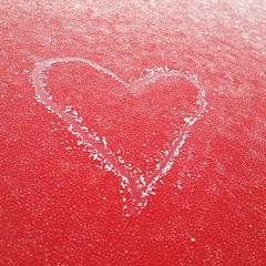 frosty heart (Julie Brunner) Tags: coldheart heart cold ice frost red valentine