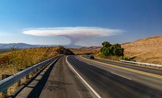 Wild fire @ Loma Prieta ridge in the Santa Cruz Mountains