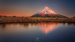 Overlord (artjom83) Tags: 2015 landscape nz newzealand taranaki island north egmontnationalpark neuseeland mountains lake tarn pouakai egmont sunset sunrise dawn dusk light water wind colors travel hike peaks famous downunder outdoor autumn winter snow glow peak longexposure sky canon6d
