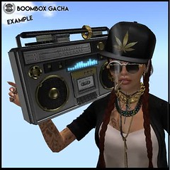 [Since1975] Boombox gacha (example) ([ Since 1975 ]) Tags: second life fashion boombox gacha garden november mesh original casio watch
