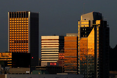 Downtown Portland, OR (planephotoman) Tags: 8215pdx portlandor portland oregon downtown sunrise highrise apartments condos condominiums officespace business