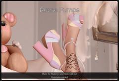 Reese Pumps (Oriana Kuhr) Tags: candy fair dillydolls sl secondlife maitreya slink heels pumps fashion dd dilly dolls straps hud