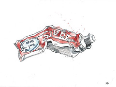 Toothpaste (stevebeadleart) Tags: toothpaste pen ink watercolor watercolour