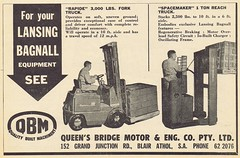 QBM 1963 (Runabout63) Tags: queens bridge motors lansing bagnall forklift