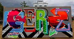 Artist: Gerz (pharoahsax) Tags: frankreich strasbourg elsass graffiti alsace france pmbvw bw kunst art streetart street urban urbanart paint graff wall artist legal mural painter painting peinture spraycan spray writer writing artwork tag tags worldgetcolors world get colors gerz