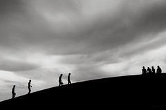 Hangout... (_MaK_) Tags: street silhouette monochrome people hangout bw candid minimalism cloud dark bangladesh