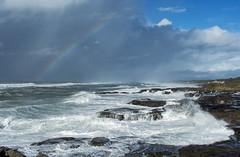 Rainbow near Yachats (acase1968) Tags: pacific ocean oregon coast rocky shore devils churn nikon d500 nikkor 24120mm f4g beach rain storm partly cloudy clouds surf