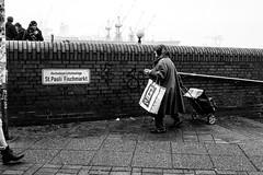 The Shopping Trolley (gwpics) Tags: people germany streetphotography hamburg woman shopping mono blackwhite blackandwhite female lady monochrome person socialcomment socialdocumentary society straenfotograpfie women bw lifestyle streetpics