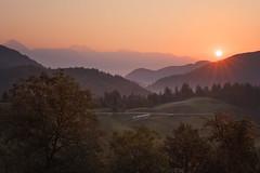 Fresh morning (Dejan Hudoletnjak) Tags: slovenia slovenija hayracks hayrack countryside landscape nature sunrise morning warm