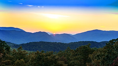 Sun Goes Down on the Mountains (Omni-Photography) Tags: sun sunset forest great smoky national park hdr green