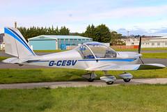 G-CESV (GH@BHD) Tags: gcesv evektor evektoraerotechnik ev97 teameurostar eurostar egad ards newtownardsairfield newtownards aircraft aviation