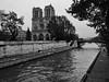 Along the Seine (Jim Nix / Nomadic Pursuits) Tags: europe france jimnix lightroom luminar macphun nomadicpursuits notredame paris riverseine blackwhite cathedral landmark monochrome photography travel