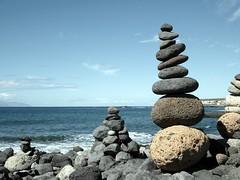 Good Vibrations. (Flyingpast) Tags: wb2000 tl350 rock lava sea sky beach blue sunny tenerife canaryislands nature vacation holiday travel tourism walk stones
