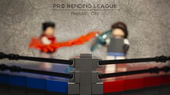 Pro-Bending League (N-11 Ordo) Tags: lok legend korra avatar build probending pro bending water fire earth mako bolin ferrets futur industries sports lego doc n11 ordo photography editing photoshop