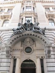 Overly elaborate entrance to a building. (maggie jones.) Tags: london franciswilliamdoylejones chimera