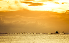 Golden Afternoon (trai_thang1211) Tags: golden beach sea sunrise sunset sky net fishing sun house yellow landscape outdoor fishingnet clouds sand