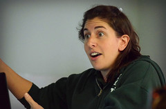 Cierra, on Animal Welfare (MTSOfan) Tags: cierraallen vettech lvt licensedveterinarytechnician talk lecture presentation animated epz zoo animalwelfare