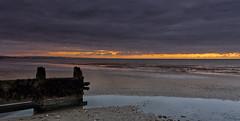 Strip of light (Through Bri`s Lens) Tags: sussex lancing sunrisebeachlow lowtide groynes shorehambysea brighton worthing brianspicer canon5dmk3 canon1635f4 lee09softgrad