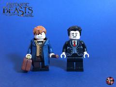 Custom Lego Fanastic Beasts: Newt and Kowalski (JerdFigs) Tags: fantastic beasts where find them