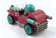 The Booger - Back (Unijob Lindo) Tags: lego vintage old timer oldtimer leg godt blocks bricks driver racer racing kart car vehicle race teal dark turquoise red darkred black grey gray retro windshield wheel tire turbo crankshaft shaft technic piston bush bushes visor figure fig ladders curved curve slope slopes trans transparent tile tiles round grille white background