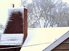 First snowfall seen from South window 4 (~nevikk~) Tags: snow windowshot firstsnowfall kevinkelly neighbors
