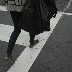 Barefoot walking (elenoide237) Tags: people subcity oneperson sanfrancisco blackandwhite lifeofhomeless homeless homelessness sfhomeless hardlife barefoot walking