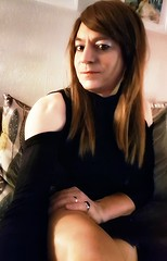 bne (Steph Angel) Tags: stephangel steph crossdress transvestite tranny trans gender girl feminine female femme makeup mascara hair longhair beauty portrait legs stockings