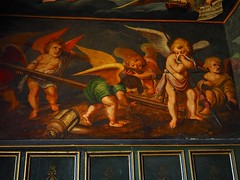 PA100834 (simonrwilkinson) Tags: bolsovercastle bolsover castle derbyshire englishheritage littlecastle heavencloset painting cherubs love heavenly