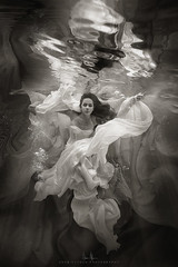 Madison Monochrome Submersion (wesome) Tags: adamattoun underwaterportrait ikelite