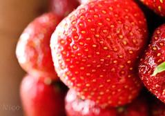 Strawberries, the best of summer  DSC_2727 Fraises, le meilleur de l't (Nicole Nicky) Tags: nikon strawberries fraises summer plant t quebec red rouge depthoffield fruit nature food manger texture berry baie bright nourriture brillante macro closeup