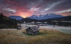 Moody Morning (Frederic Huber | Photography) Tags: 1124 1635 2470 70200 landschaft canoneos5dsr eos fotodiox frederichuber freearc landscape photography wonderpana wwwfrederichubercom geroldsee see lake mountain berge alps alpen alm karwendel gebirge sunrise sunset moody bavaria bayern germany deutschland reflection clouds sky frederic huber red blue blau rot morgenrte explore explored