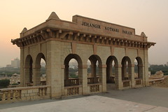 Jehangir Kothari Parade; Pavilion-1919 (asfandyarkohati) Tags: heritage oldbuildings photography myphotography followforfollow heritagesites colonialtimes colonialera british redbricks monuments domes dome windows road streetlife heritagephotography