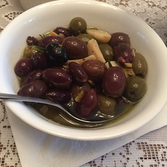 warm olives with gin (htomren) Tags: phonepics food olives thanksgiving thankgiving2016