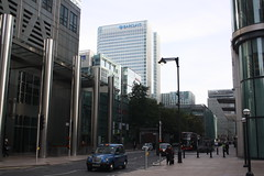 Canada Square (lazy south's travels) Tags: london england britain uk capital city street scene financial finance barclays taxi bus tfl urban