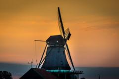 Afterglow at Zaanse Schans (Mika Laitinen) Tags: canon7dmarkii europe netherlands zaanseschans architecture color colorful landscape nightfall summer sunset twilight windmills zaandam noordholland nl