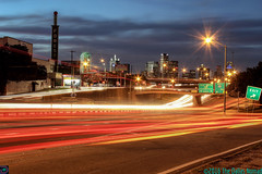 Urban Rhapsody (The Dallas Nomad) Tags: south dallas texas freeway long exposure us 175 infrastructure city cityscape outdoor sunset skyline highway night nightscape urban dfw