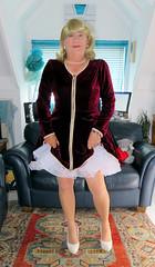 Velvet Dress (Trixy Deans) Tags: crossdresser cd cute crossdressing crossdress cocktaildress dress reddress xdresser sexy sexytransvestite sexyheels sexylegs sexyblonde sexytransvestitered tgirl tv transvestite transgendered transsexual tranny trixydeans tgirls transvesite trixy trans tg transvetite
