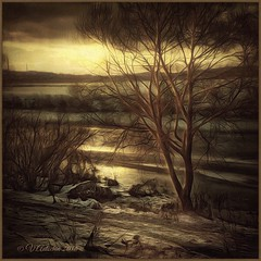 The evening. (odinvadim) Tags: mytravelgram textured textures iphone editmaster travel iphoneography sunset evening iphoneonly painterly artist snapseed landscape specialist iphoneart graphic painterlymobileart winter