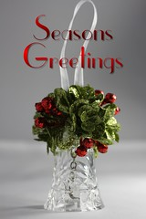 Seasons Greetings. Available for purchase on Shutterstock (CCphotoworks) Tags: objects stilllife christmascard stockphotos pretty christmasornament ornament bell text card festive holidays seasonsgreetings greetings christmas