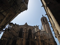 Barcelona Cathedral, Spain (ashabot) Tags: barcelona street spain cities cathedrals catalunya streetscenes lightanddark medievalchurch worldcities