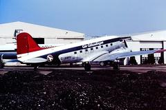 G-AMPY DC3 Air Atlantique CVT 23-05-87 (cvtperson) Tags: airport air coventry dc3 gampy atlantique cvt egbe