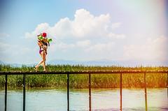 Time to play (Melissa Maples) Tags: summer woman baby lake water turkey pier nikon toddler asia child türkiye mother son lightleak bikini nikkor floaties vr afs 尼康 18200mm 土耳其 f3556g ニコン beyşehir 18200mmf3556g d5100