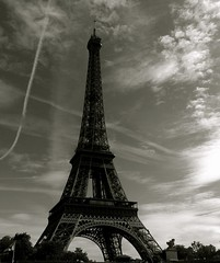 Eiffel Tower (frenchdave) Tags: blackandwhite bw paris tower blackwhite eiffeltower toureiffel