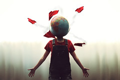 Lets go on an Adventure (Allison Coles) Tags: world travel selfportrait globe earth adventure explore paperplanes conceptualphotography allisoncolesphotography