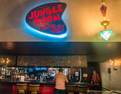 The Jungle Room bar at Elvis Presleys Heartbreak Hotel on Elvis Presley Boulevard in Memphis Tennessee. (CarmenSisson) Tags: usa bar hotel memphis tennessee lodging presley graceland touristattraction jungleroom elvispresley heartbreakhotel