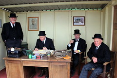 Bankers (Davydutchy) Tags: life 1920s history netherlands typewriter festival feast boer community village desk farm country nederland bank folklore historic tophat frise farmer funfair paysbas friesland kermis niederlande schreibmaschine banker paysan platteland fryslân frisia dorpsfeest landgoed bauern nieuwehorne boeren bankier schrijfmachine nijhoarne oudehorne flaeijelfeest flaeijel âldhoarne