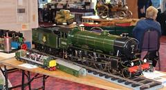 Model of B17 Class 4-6-0 61616, Grand Henham Steam Rally, Ipswich, 19th. September 2015. (Crewcastrian) Tags: model transport trinitypark ipswich steamlocomotive 61616 suffolkshowground falloden b17class