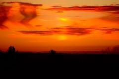 Autumn Sunset 2 (Sarah Hina) Tags: autumn trees sunset orange clouds rural countryside farm silo hills athensohio northblackburn