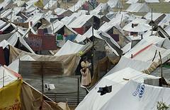 United Nations managed tsunami refugee camp near Tirrukovil, Sri Lanka