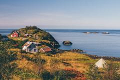 Senja (bruit_silencieux) Tags: travel autumn sea house nature colors norway canon landscape island norge roadtrip arctic lapland 7d scandinavia moutains senja hamn laponie sigma35mm14art